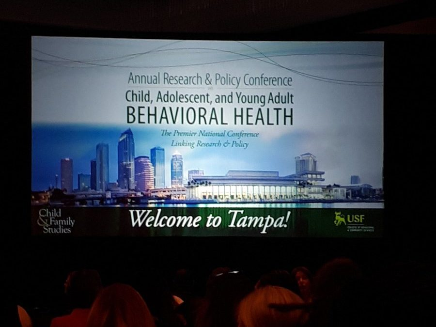 Siobhan O'Connor, CMHCR PhD scholar, presents paper at the Research & Policy Conference on Child, Adolescent, and Young Adult Behavioral Health, Florida