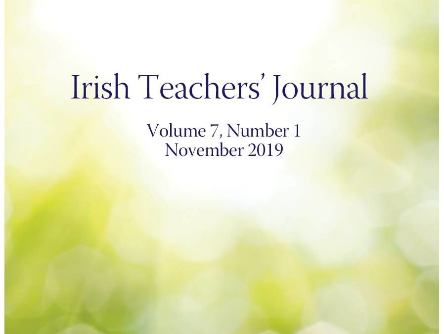 Recent paper published in Irish Teachers' Journal (Nov issue) by CMHCR members Shane Owen and Professor Sinead McGilloway (in collaboration with Dr Jonathan Murphy)